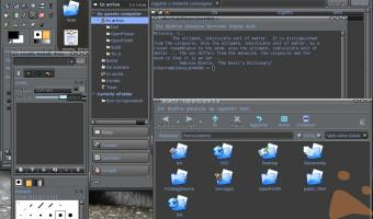 SuSE 9.3 con GNOME - Tema un po' dark, ma elegante