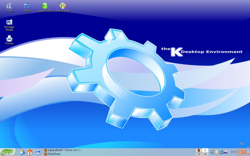 La mia scrivania opensuse 12.1 kde 3.5 personalizzata